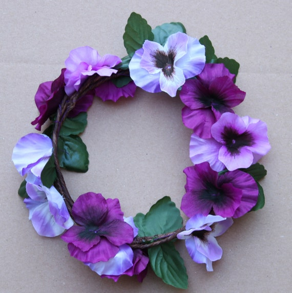 Flower Crown Purple: Purple Lilac Lavender Floral Crown Bridal Accessory Flower