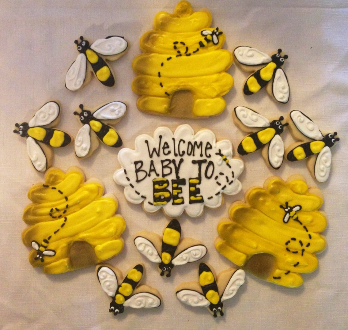 Baby To Bee Cookie Tray / Bee Birthday Cookies