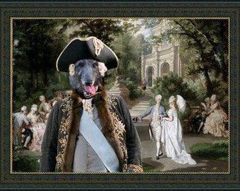 Scottish Deerhound ART, Scottish Deerhound Portrait, CANVAS Print, Dog Painting, Dog Art Print, Custom Dog Art - Portrait By Nobility Dogs