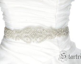 SALE JINA Wedding crystal beaded sah , blet
