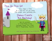 PRINCE or KNIGHT Birthday Party Invite - Printable Customized Invitation - Personalized DIY