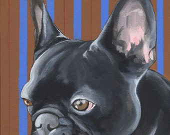 French Bulldog Painting (21X30cm)