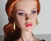1:6 scale fashion doll dangling  gold teardrop earrings