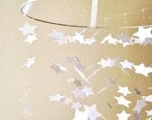 White Star Mobile / / /  Nursery Decor, Photo Prop, Baby Shower Gift, Crib Mobile.