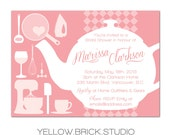 tea pot bridal shower invitation - DIY printable file by YellowBrickStudio