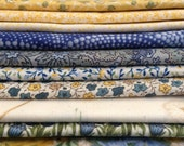 Sale 10 blue and yellow fat quarters assortment