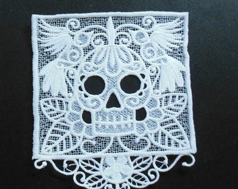 Lace Applique for Crafts or Crazy Quilt - Day of the Dead Banner
