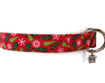 Christmas Trees Holiday Dog Collar size Large