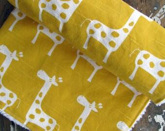 Yellow Baby Blanket - Yellow Giraffes - Gender Neutral Baby Boy or Girl - Chenille or Minky Blanket