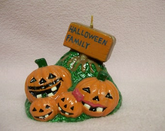Halloween Pumpkin  Candle, Decorative, Jack o Lantern,  Vintage, Pumpkin Patch Candle, Halloween Parties, Decorating, Decor