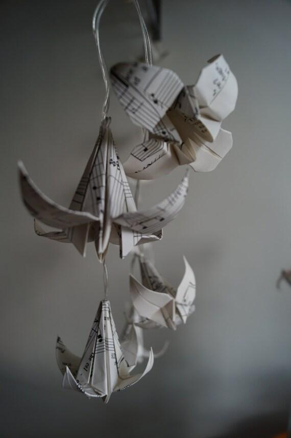 Fairy light-gift for music lovers/teacher-Musical note lilies
