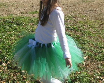 St. Patrick's Day tutu Green and White Princess Tutu-child, adult or running