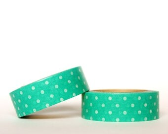 MINI 5M Teal Dots Washi Tape