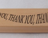 Thank You Large Rubber Stamp