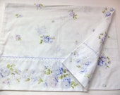 Vintage Standard Pillowcase - Purple Roses