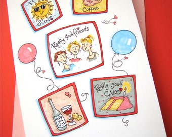 Really Good Birthday Card - Friend Birthday - Women Birthday - Girlfriends Birthay Card