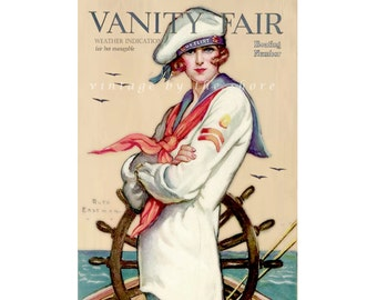 Collage Art, Altered Vintage Vanity Fair Magazine Cover, Giclee Art Print