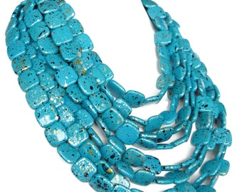Chunky Turquoise Necklace  - Super Chunky Turquoise Statement Necklace - MORE COLORS AVAILABLE
