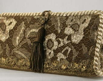 Fabulous French Lace Clutch Handbag
