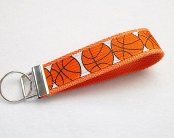 Key Fob/ Wristlet/ Keychain/ Basketball print Ready to Ship