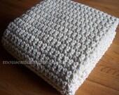 "Extra Large Chunky Afghan - Beginner Crochet PATTERN 50"" x 72""/(127 x 183) cm - PDF 5072"