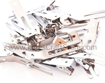 500 Double Prong Alligator Clips --- ETSY