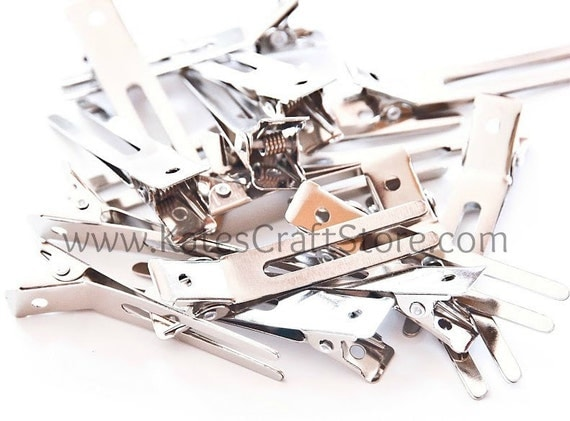 100 Double Prong Alligator Clips --- ETSY
