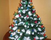 Vintage Atlantiic Mold Ceramic Christmas Tree