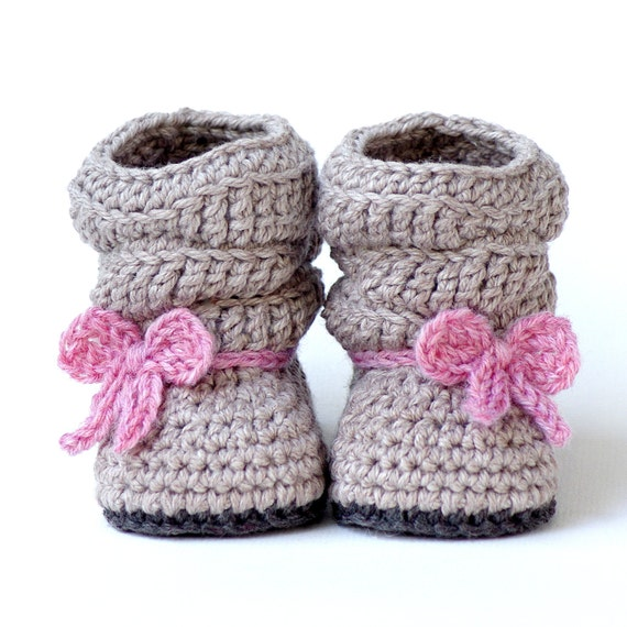CROCHET PATTERN #217 Baby Slouch Boot - Mia Boot  - Instant Download K