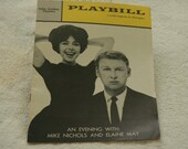 Vintage 1961 Broadway Playbill Mike Nichols Elaine May SALE