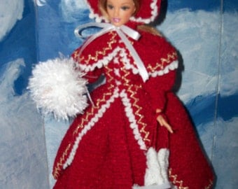 Barbie in Crocheted 1895 Skating Costume