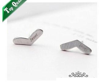 Heart Earring 18K Platinum Plated Earring