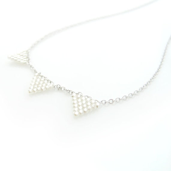 JeannieRichard Silver Triangle Necklace
