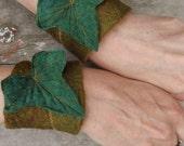 Ivy Leaf Cuffs - Braclets - Pixie Cuffs - Leaf Cuffs - Fairy Cuffs