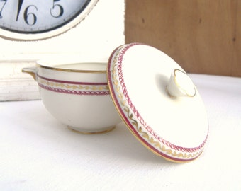 Porcelain Sugar Royal Tettau US Zone Germany 1946 - 1949, China Sugar Bowl, Porcelain Sugar Bowl