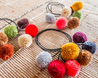 Hmong mixed fruits pompoms Hair band / (Free Shipping With Another Items) /Wholesale