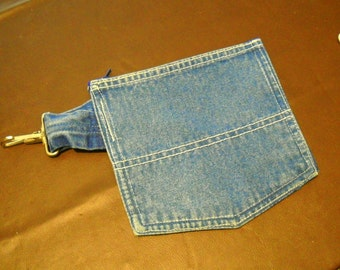 Belt bag. Recycled overall pocket. cell phone or cigarette pouch