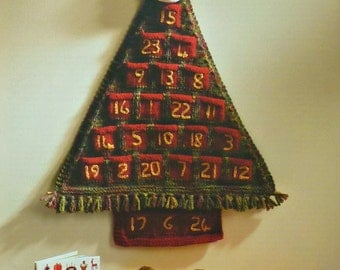 Christmas Knitting Pattern K8001 Advent Calendar and Angels Knitting Pattern DK (Light Worsted)/Chunky (Bulky) KIng Cole