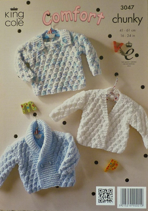 Knitting Pattern For Newborn Jumper : Baby Knitting Pattern K3047 Babies Jumper by KnittingPatterns4U