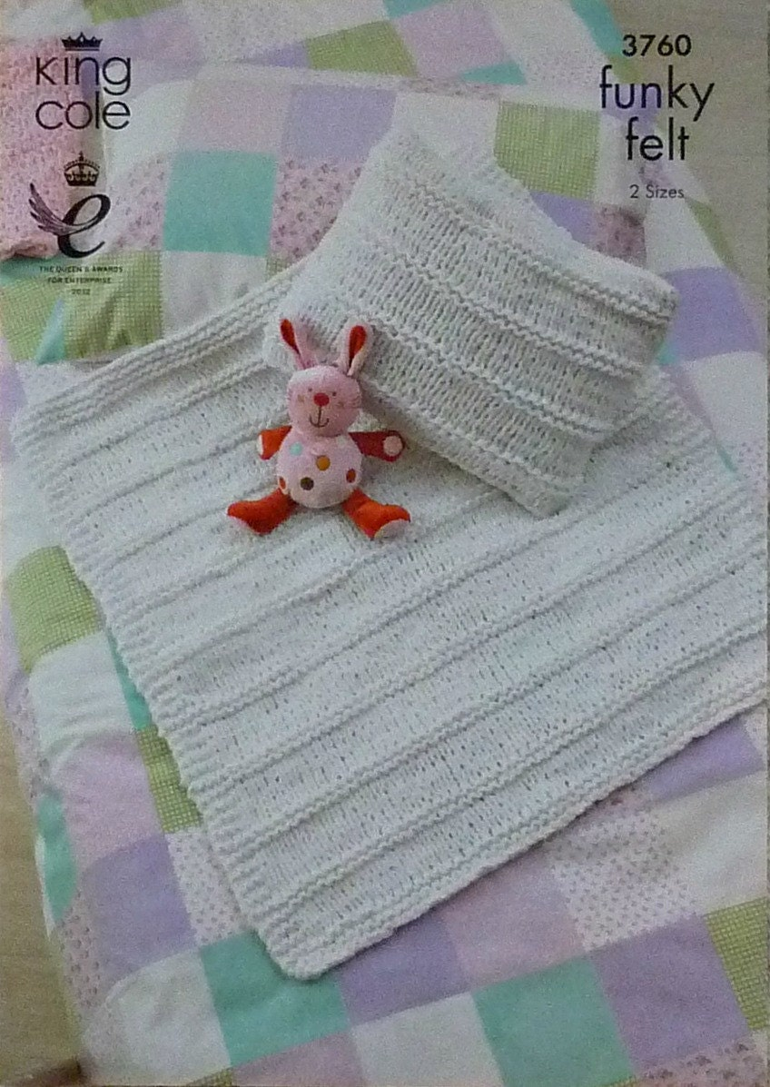 Baby Knitting Pattern K3760 Babies Textured Blanket and Cushion Knitting Patt...