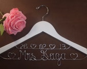 Bridal Hanger with Special Design for your wedding, Personalized custom bridal hanger, brides hanger, Bridal Hanger, Wedding hanger, Bridal
