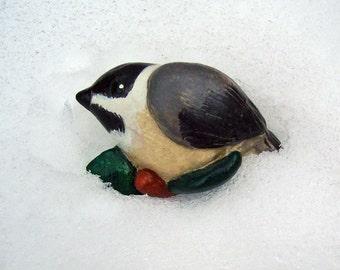 Chickadee Magnet Handmade Magnet Little Bird