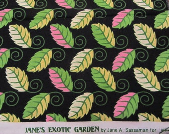 Jane Sassaman's Exotic Garden Little Leaves in Pink and Green Fat Quarter