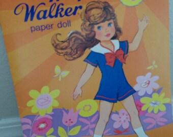UNCUT Wispy Walker paper doll book by Whitman Precut no scissors needed 1976