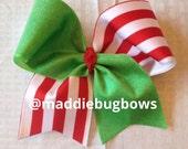 Christmas Themed Cheer Bow