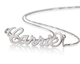 Name Necklace Personalized Necklace 925 Sterling Silver - Carrie Necklace