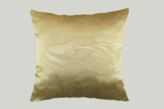 Decorative Pillow case Home Decor Designer Gold color fabric