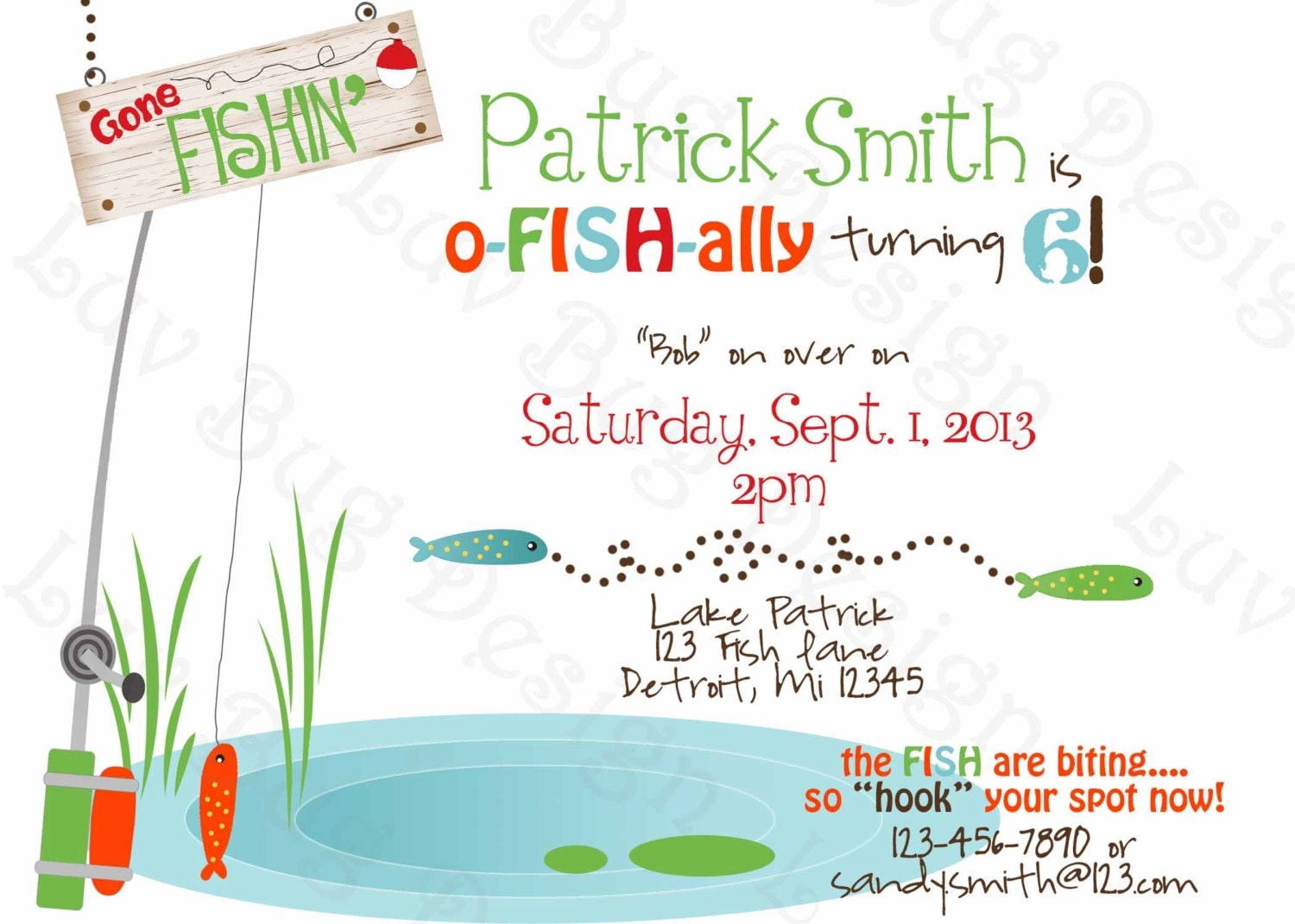 Fishing Birthday Invitations and get inspiration to create nice invitation ideas