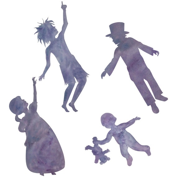 Peter Pan Wendy John and Michael Silhouettes