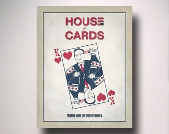 House of Cards Poster / Print / Minimalist Typography / Frank Underwood